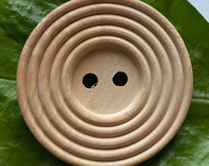 38mm Button Wooden Flat Round Buttons, 2-Hole, Light Wooden Brown Color DIY Craft Supplies Findings.