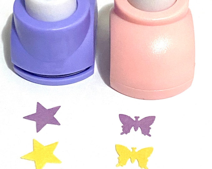 Punch Craft Paper Shapes big punches Mixed Colors DIY Craft Supplies Findings.