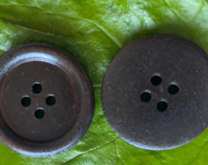 25mm Buttons Wooden 4-hole Coconut Brown 1 Inches Buttons DIY Craft Supplies Findings.