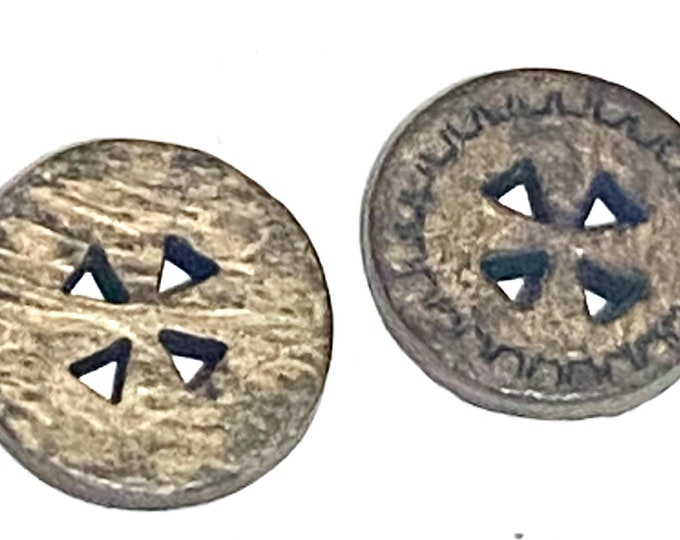 13mm Buttons 4 Holes Carved Buttons DIY Craft Supplies Findings.
