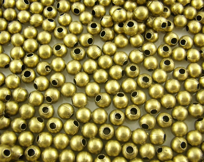 3mm Spacer beads Round Antique Bronze DIY Jewelry Making Supplies  Findings.