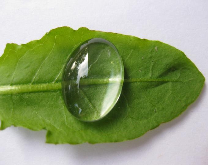 Glass Oval 20x30mm Clear Cabochons  Bezel Domes DIY Jewelry Pendant Bracelet Necklaces,