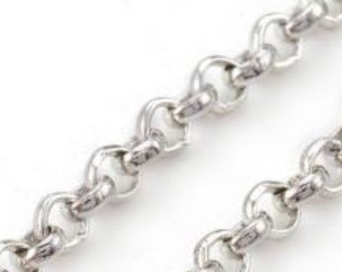 2.5mm Rolo Chain antique Silver Finding  DIY Jewelry Making Supplies Findings.