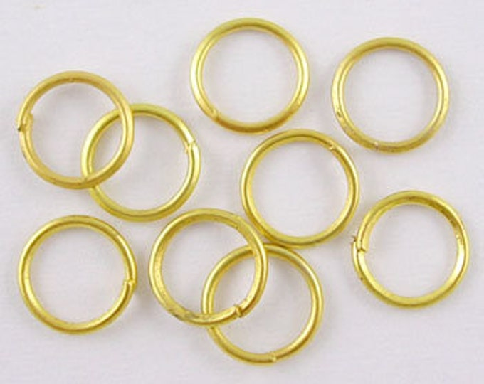 6mm Jump Rings  Round Golden color Jewelry Making Findings.
