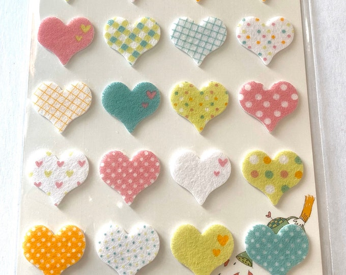 Dot Heart stickers Craft Sticker Sheet for Planning, Journaling, Collecting or Scrap booking 1 Sheet.