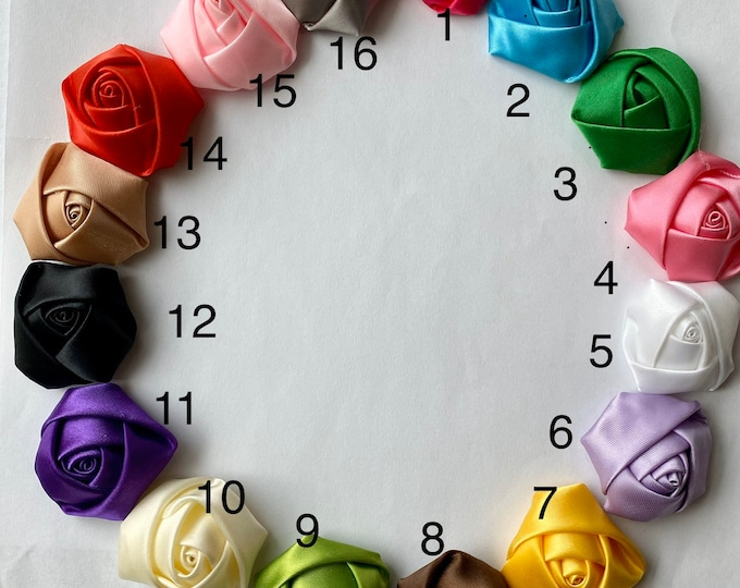 1.5 Inch Rose Bud Flowers Mixed Colors DIY Jewelry Making Findings.