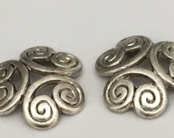 13mm Beadcaps Flower Antique silver DIY Jewelry Making Findings.