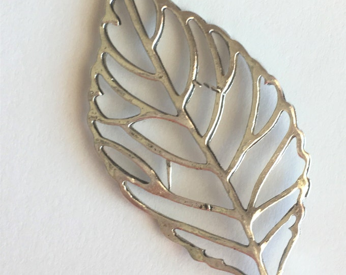 49mm Leaf Pendant Hole 3.5mm Antique silver Pendant DIY Findings for Jewelry Making.
