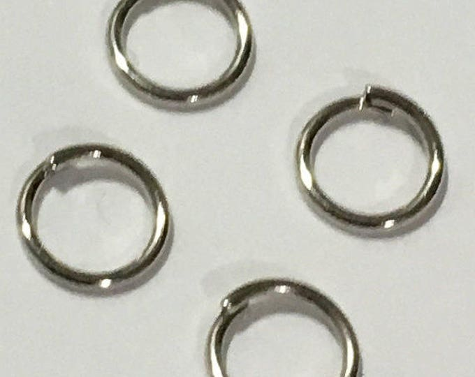 Jump Rings 4mm/ 5mm/ 6mm in diameter, 0.7mm thick Antique Silver DIY Jewelry Making Findings