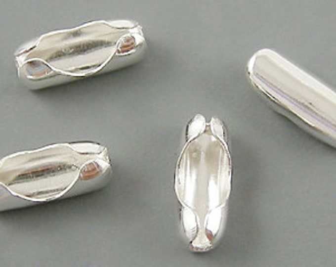 Connectors 5x2mm Silver color Ball Chain DIY Jewelry Findings.