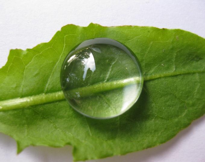 18mm Glass Cabochon Clear Round Bezel Domes DIY Jewelry Pendant Bracelet Necklaces, 80Pcs.