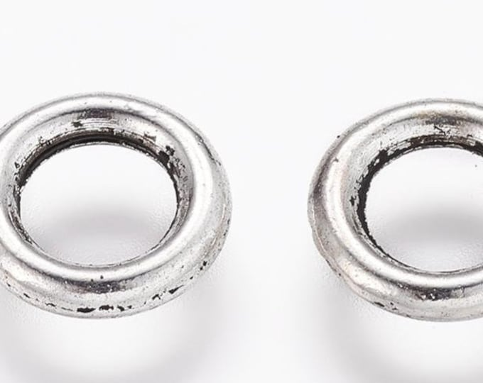 8mm Jump Rings 1.5mm thick Antique Silver  DIY Jewelry Making Findings.