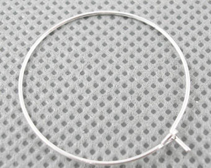 20mm Hoop Earrings Silver DIY Jewelry Making Findings.