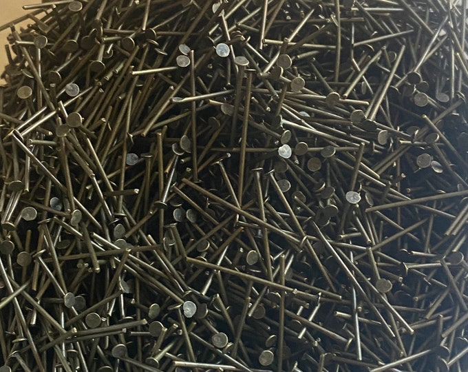 22mm Flat Headpins Antique Bronze DIY Jewelry Making Supplies and Findings.