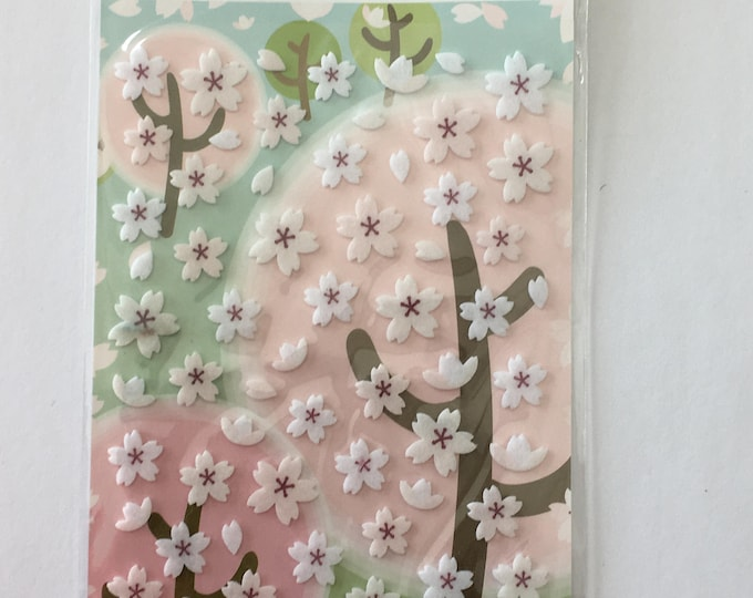 Cherry Blossom stickers Flower Craft Sticker Sheet for Planning, Journaling, Collecting or Scrap booking 1 Sheet.