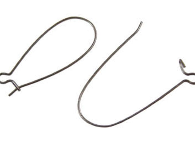 33x14mm Earring Hooks, Gunmetal Lead Free and Cadmium Free, Black, Size 33x14 mm DIY Jewelry Supplies.