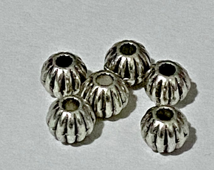 6mm Spacer beads hole: 1mm Antique Silver DIY Jewelry Making Supplies  Findings.