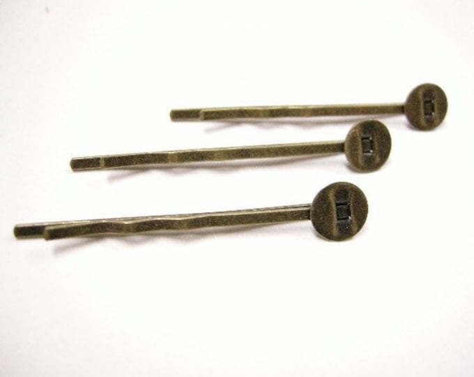 8mm Hairpin Bobby Bronze DIY Jewelry Making Supplies and Findings.