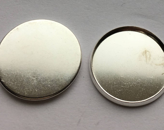 18mm Cabochon Settings Silver Plated  Pendant Bezel  Inner Tray DIY Findings for Jewelry Making 50Pcs.