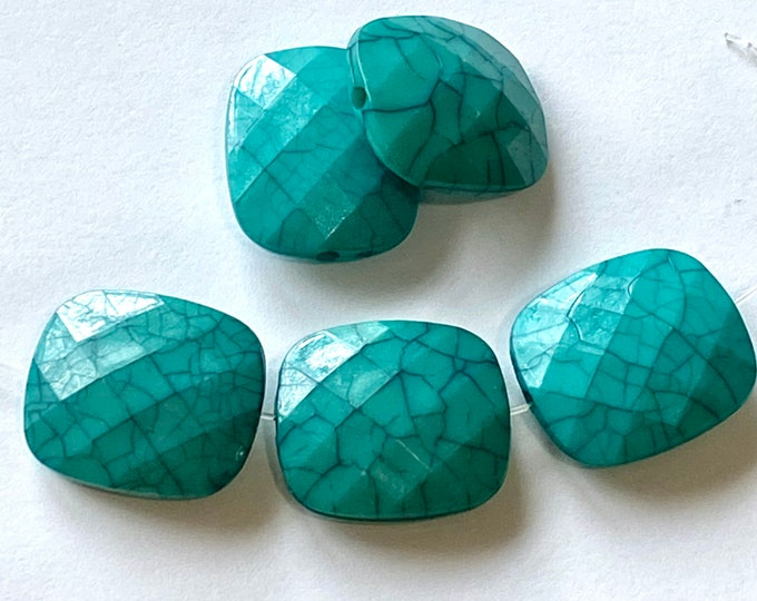 23x20mm Turquoise TearDrop Dyed DIY Jewelry Making Supplies and Findings.