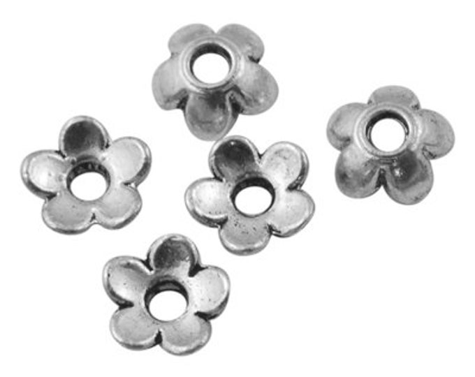 6mm Beadcaps Silver DIY Jewelry Making Findings.
