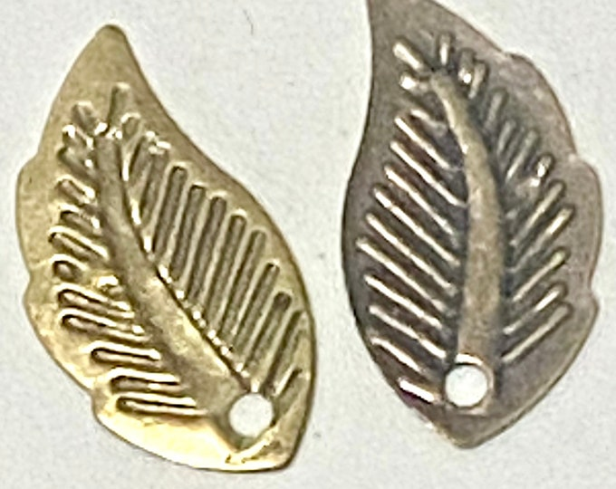 18mm Leaf Pendant  Antique Bronze Pendant DIY Findings for Jewelry Making.