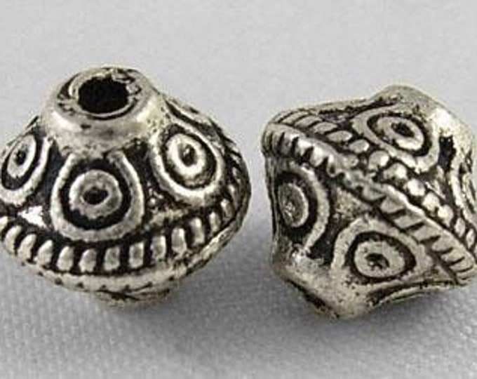7x6mm Bicone spacer Beads Antique Silver Beads DIY Jewelry Making Supplies  Findings.