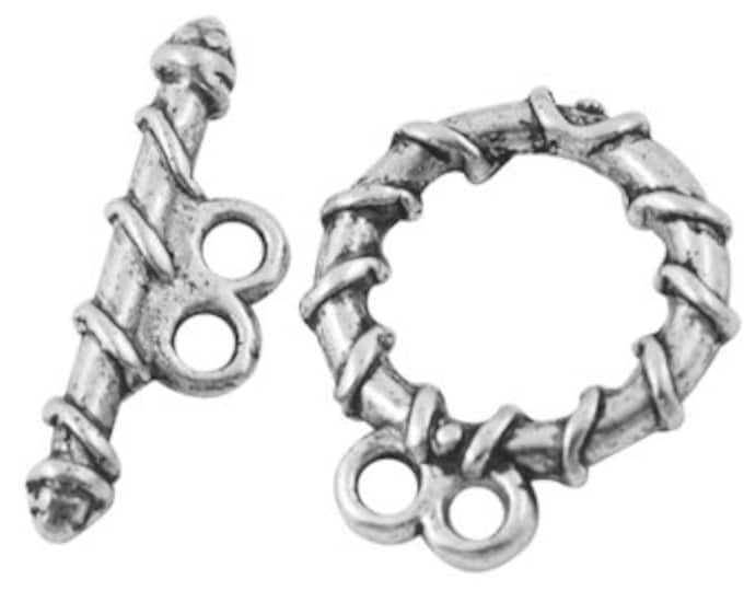 18mm Toggle Antique Silver  DIY Jewelry Making Supplie  Findings.