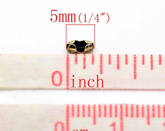 5x2mm Connectors Ball Chain Antique Bronze DIY Jewelry Findings.