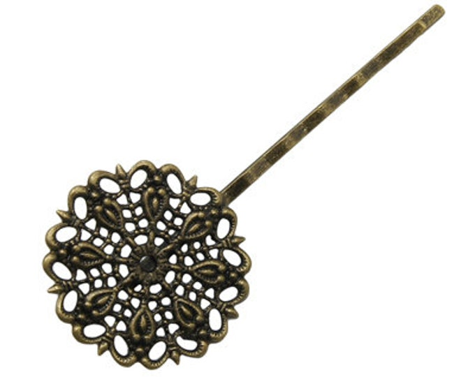 25mm Bobby Hair pins Antique Bronze DIY Jewelry Making Supplies and Findings