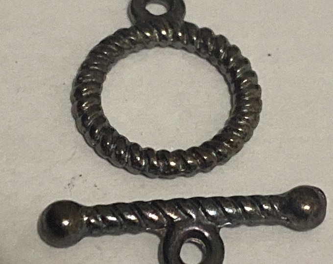10mm Toggle Clasps Black Gunmetal Round DIY Jewelry Making Supplie  Findings.