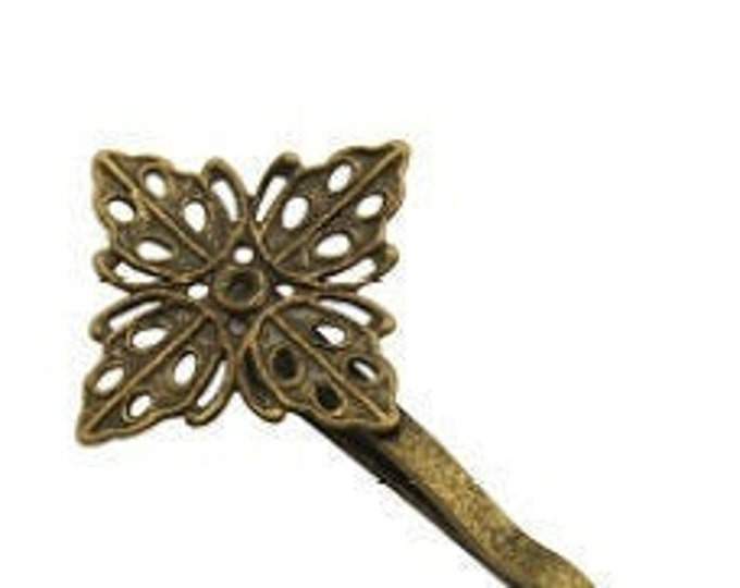 17mm Hair Bobby pins Antique Bronze DIY Jewelry Making Supplies and Findings