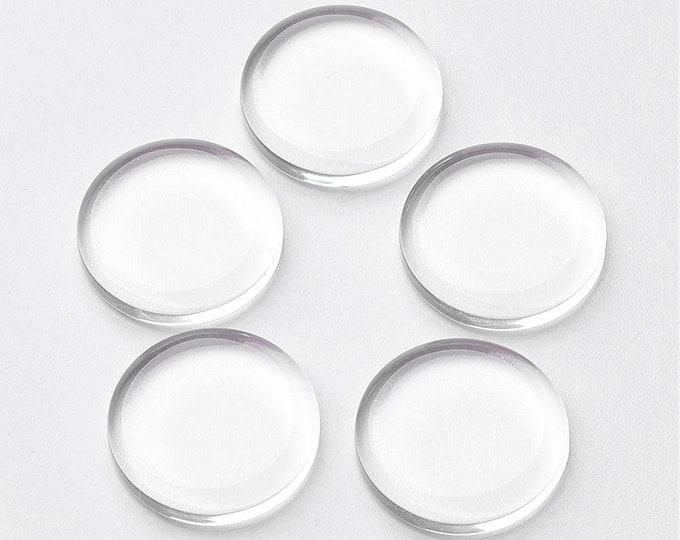 25mm Flat Glass Clear Transparent Cabochons Flat Domes DIY Jewelry Findings 40pcs/50pcs