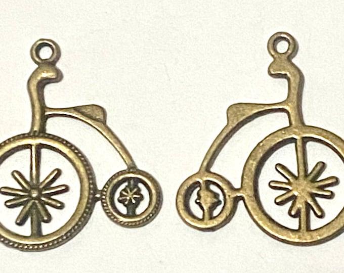 32mm Bike Pendant Antique Bronze Pendant DIY Findings for Jewelry Making.