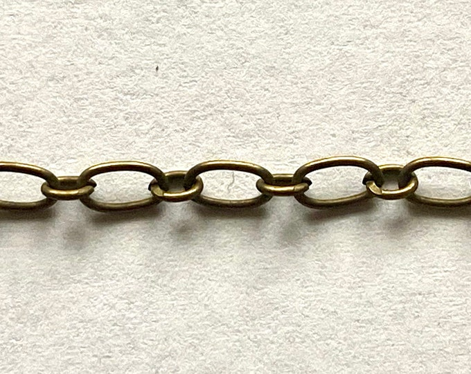 Mother-Son Chain Come On Reel Mother link 3x6mm, Son link 2.8x3.5mm 0.6mm thick antique bronze Finding DIY Jewelry Making Supplies Findings