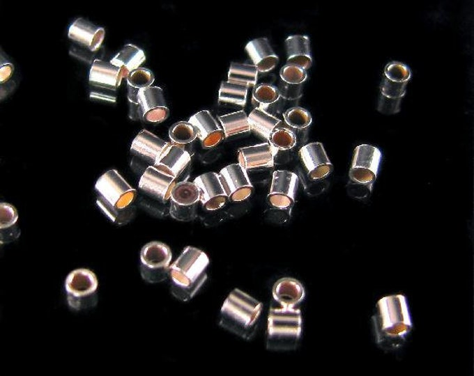 Crimp Tube 1.5mm Silver Beads, DIY Jewelry Making Supplies and Findings.