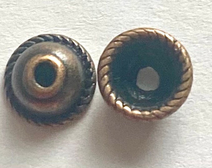 8mm Bead caps Copper Red color DIY Jewelry Making Findings.