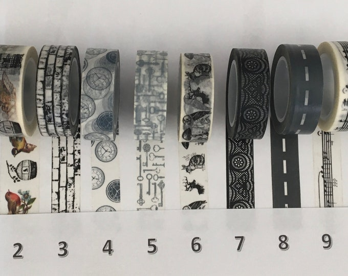 Washi Tapes pick your own from large collections