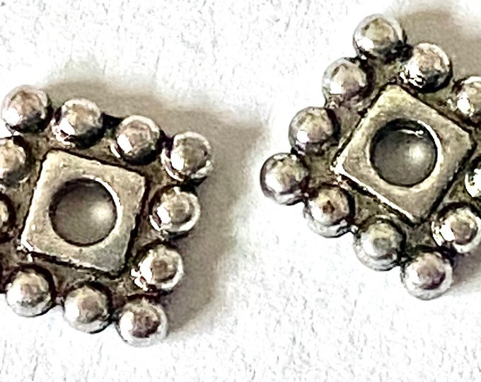 7x7mm Spacer Beads Antique Silver DIY Jewelry Making Supplies  Findings.