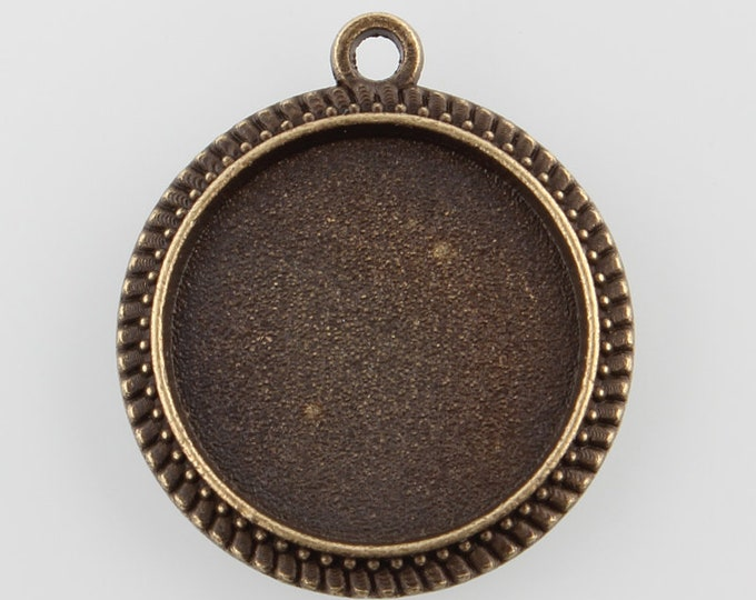 16mm Cabochons Settings Antique Bronze Bezel Tray DIY Jewelry Findings.