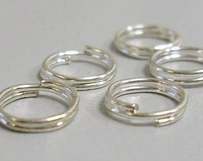5mm Jump Rings Double Loops Silver DIY Jewelry Making Findings