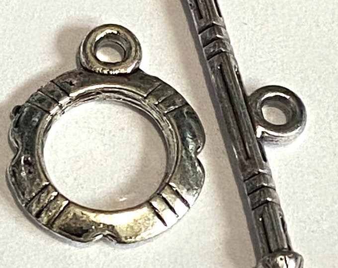12mm Toggles Antique Silver Clasps Jewelry Making Supplie  Findings.