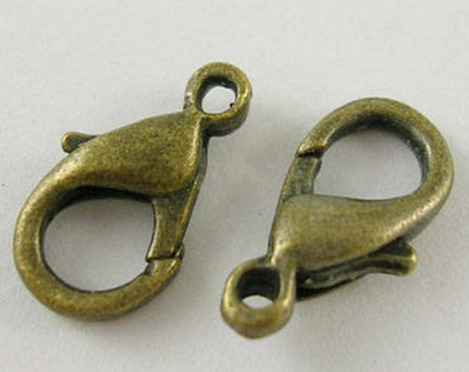 8x14mm Clasps Lobster Bronze Claw Clasps DIY Jewelry Making Supplie  Findings.