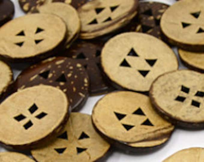 25mm Buttons Stitch wooden Round 4-Hole, DIY Craft Supplies Findings.