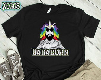 9695eb04 Dadacorn T-shirt, Unicorn Shirt, Unicorn Dad, Fathers Day Gift, Unicorn,  Unicorn Party, First Fathers Day, Beard, Manly Gift, Rainbow Shirt