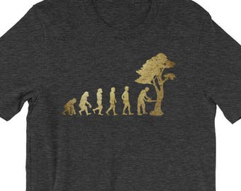 Lumberjack Logging Lumberman Never Underestimate A Grandpa With Woodwork Skills Logger Gift Short-sleeve Unisex T-shirt