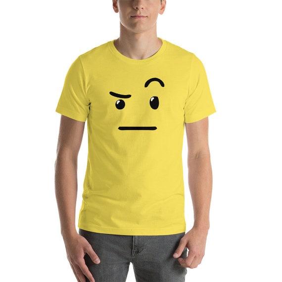 Skeptical Emoji Costume Shirt Raised Eyebrow Skeptic Etsy