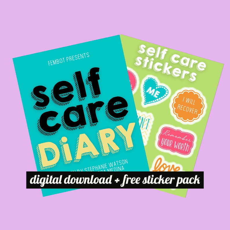 Digital Printable Reusable Self Care Diary, Self Care Journal, Self Care  Planner, Self Care Stickers, Mood Tracker / Instant Download