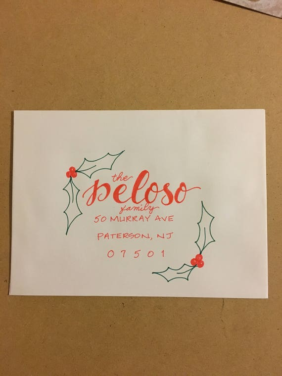 Addressed Christmas Cards.Hand Addressed Christmas Cards