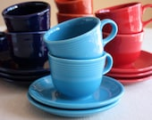 Vintage Fiestaware Cup and Saucer Set - Your choice 4 Colors Available